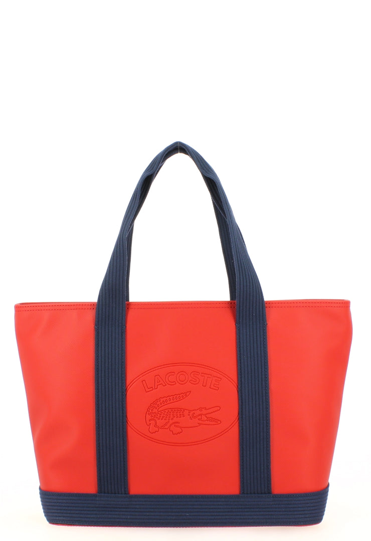L Shoppping Bag Lacoste NF2416WM-B66 Red Peacoat face
