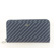 LACOSTE ZIP WALLET CHECK PEACOAT NF2401DT FACE
