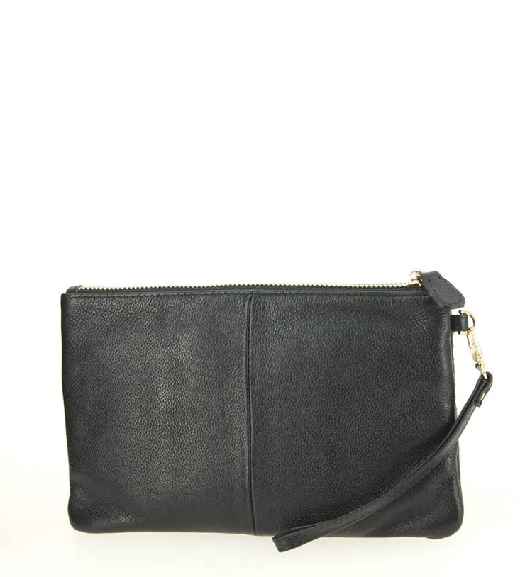 Mighty Purse WRISTLET HBUTLER Black Studs dos