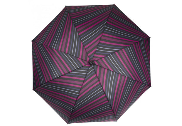 Parapluie ISOTONER X-tra solide Rayure diagonale ouvert