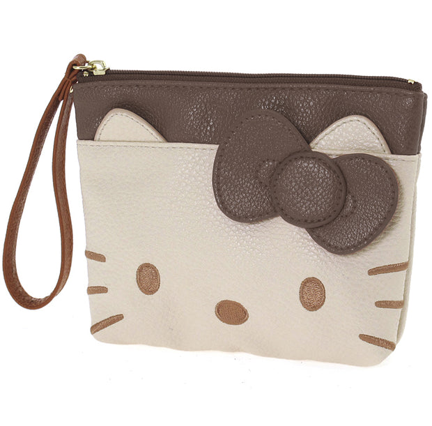 Pochette HELLO KITTY BUSTA BROWN CREAM face