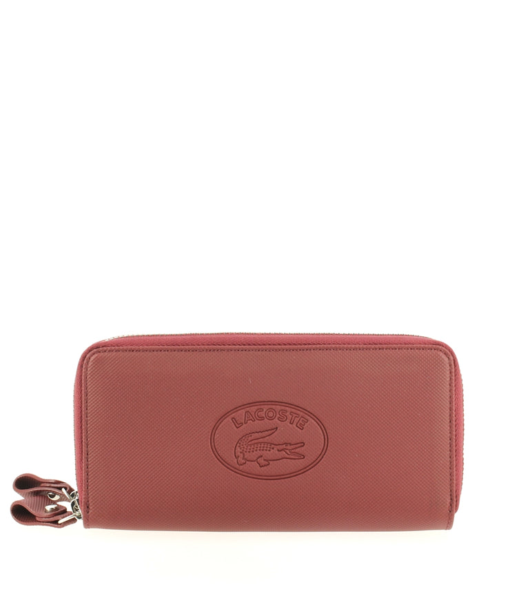 Porte-monnaie Lacoste Double Zip Wallet Rio Red face
