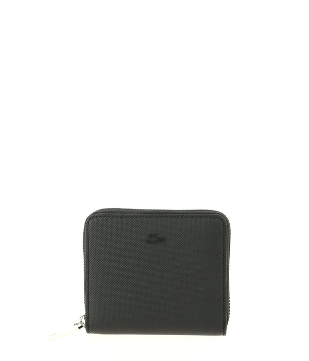 Portefeuille LACOSTE zippé Around Wallet Noir face