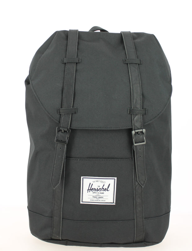 sac-a-dos-herschel-retreat-noir-noir 10066-00535-OS face