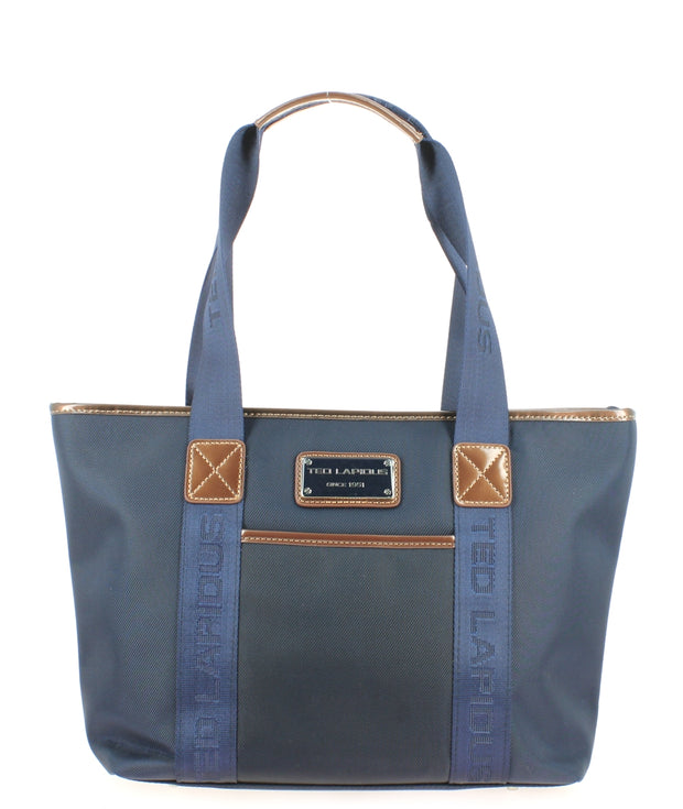 Sac-shopping-S-TED-LAPIDUS-Tonic-bleu-TL4011-face
