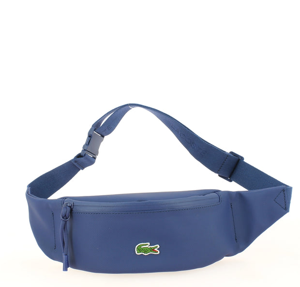 sac banane Lacoste NH2886PO-024-ESTATE-BLEU face