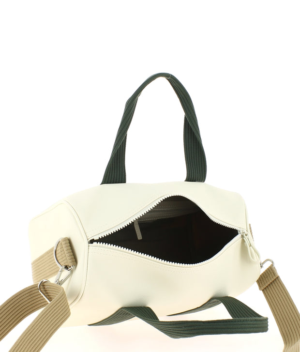 sac bowling lacoste BEIGE NF2809WM ouvert