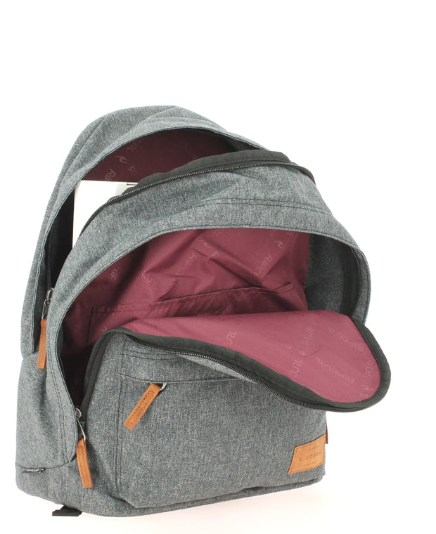 Sac à dos RIP CURL Charcoal Grey ouvert