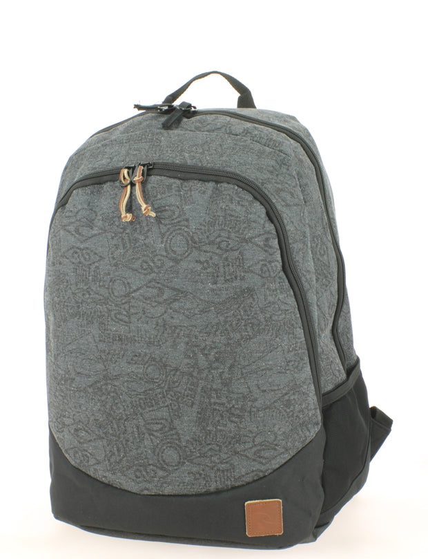 Sac à dos 2 compartiments Ripcurl Proschool Heritage Logo Grey face