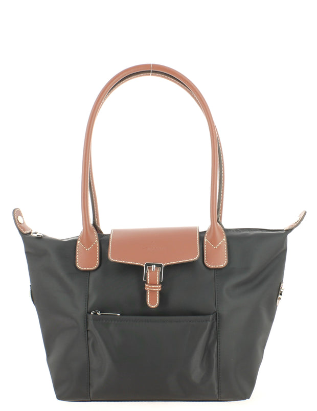 Sac épaule HEXAGONA 172402 Noir-Marron face