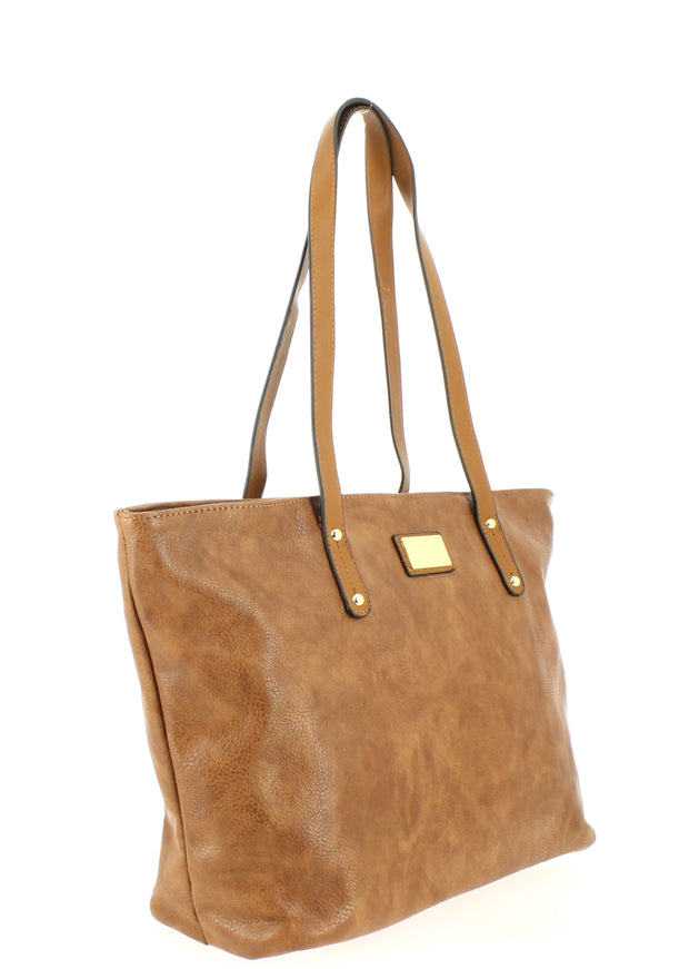 Sac shopping Filles Gallantry Marron-coté