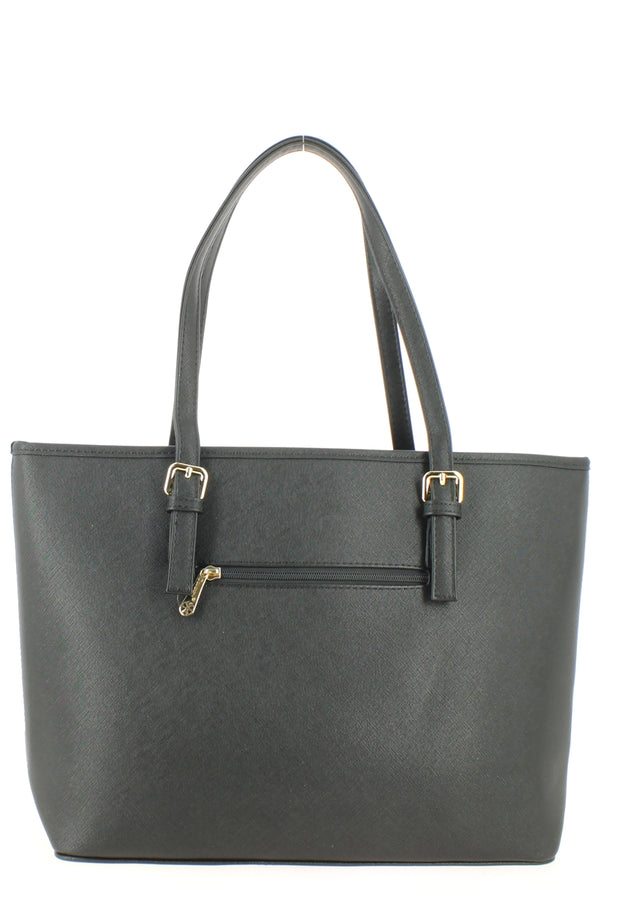 Sac shopping Filles Gallantry Saint tropez Noir dos