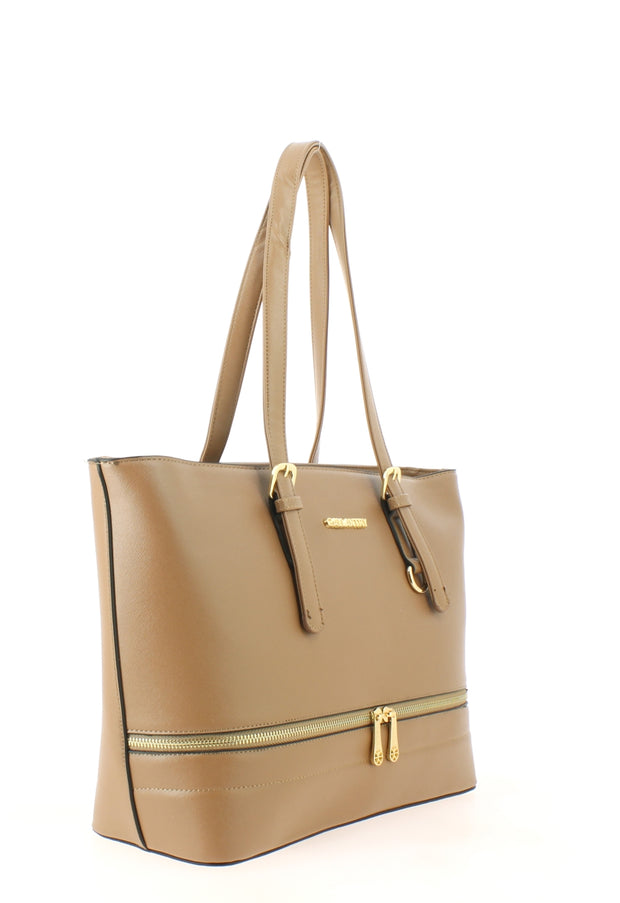 Sac shopping Filles Gallantry Saint tropez taupe-coté