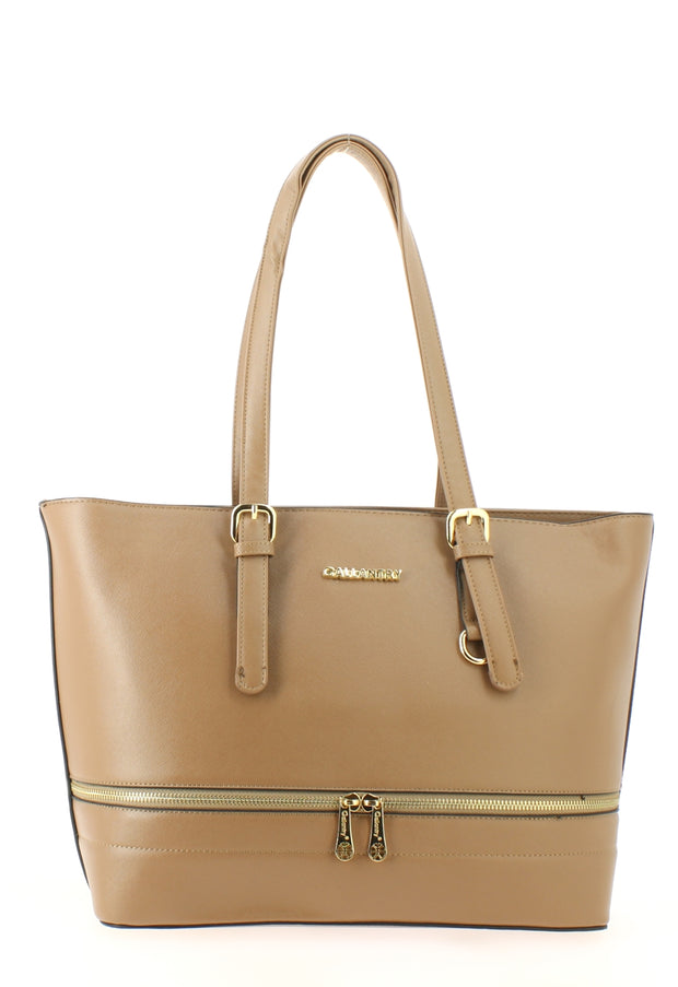 Sac shopping Filles Gallantry Saint tropez taupe-face