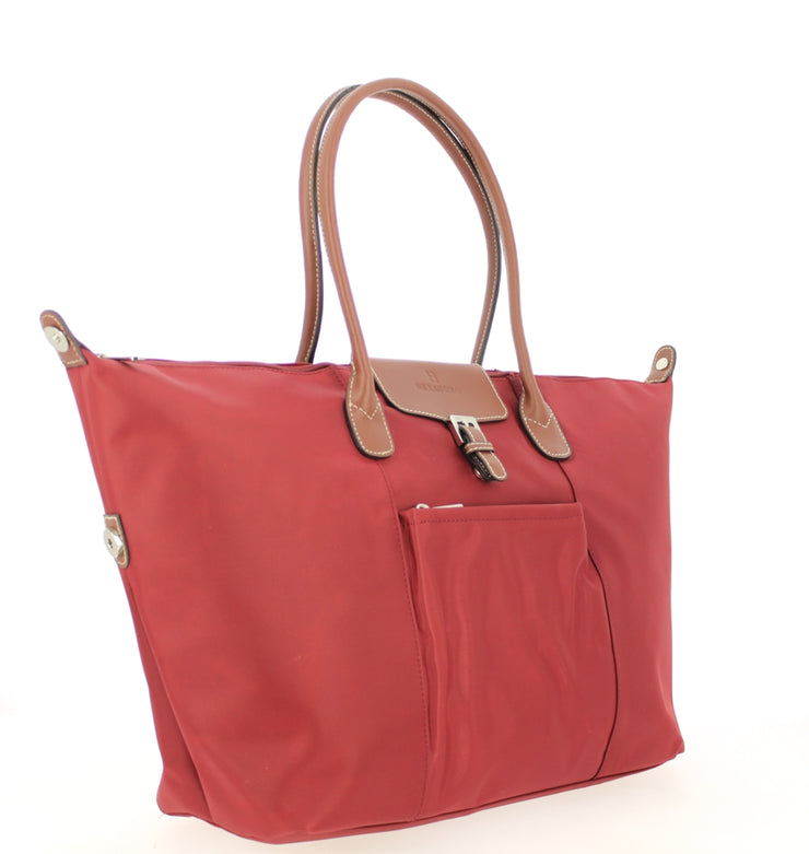 Sac shopping Hexagona-171819-bordeaux PROFIL