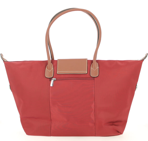 Sac shopping Hexagona-171819-bordeaux DOS