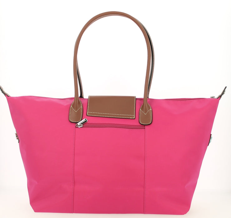 Sac shopping Hexagona-171819-Fushia DOS