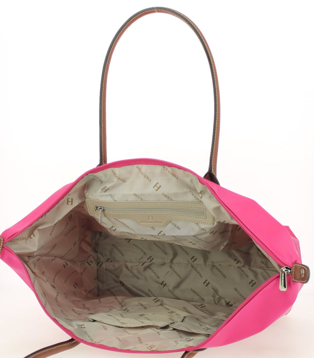 Sac shopping Hexagona-171819-Fushia INTERIEUR