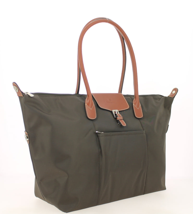 Sac shopping Hexagona-171819-marron-fonce COTE