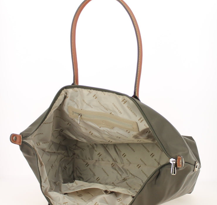Sac shopping Hexagona-171819-marron-fonce INTERIEUR