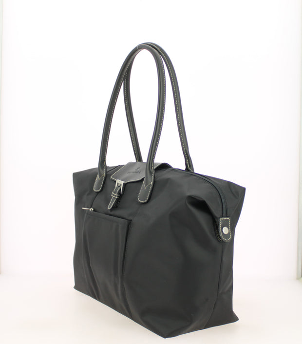Sac shopping Hexagona-171819-Noir-noir PROFIL