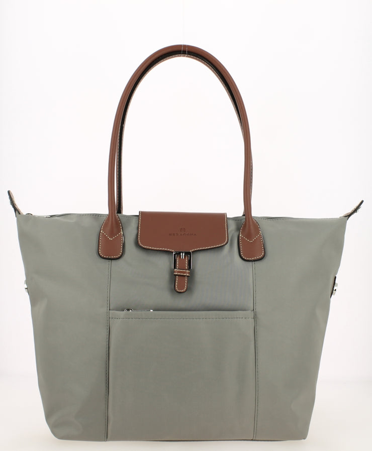 sac shopping Hexagona gris clair Face