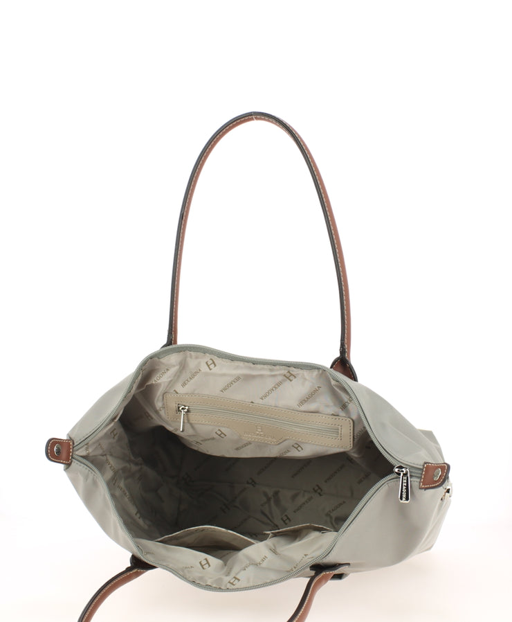 sac shopping Hexagona gris clair Dos