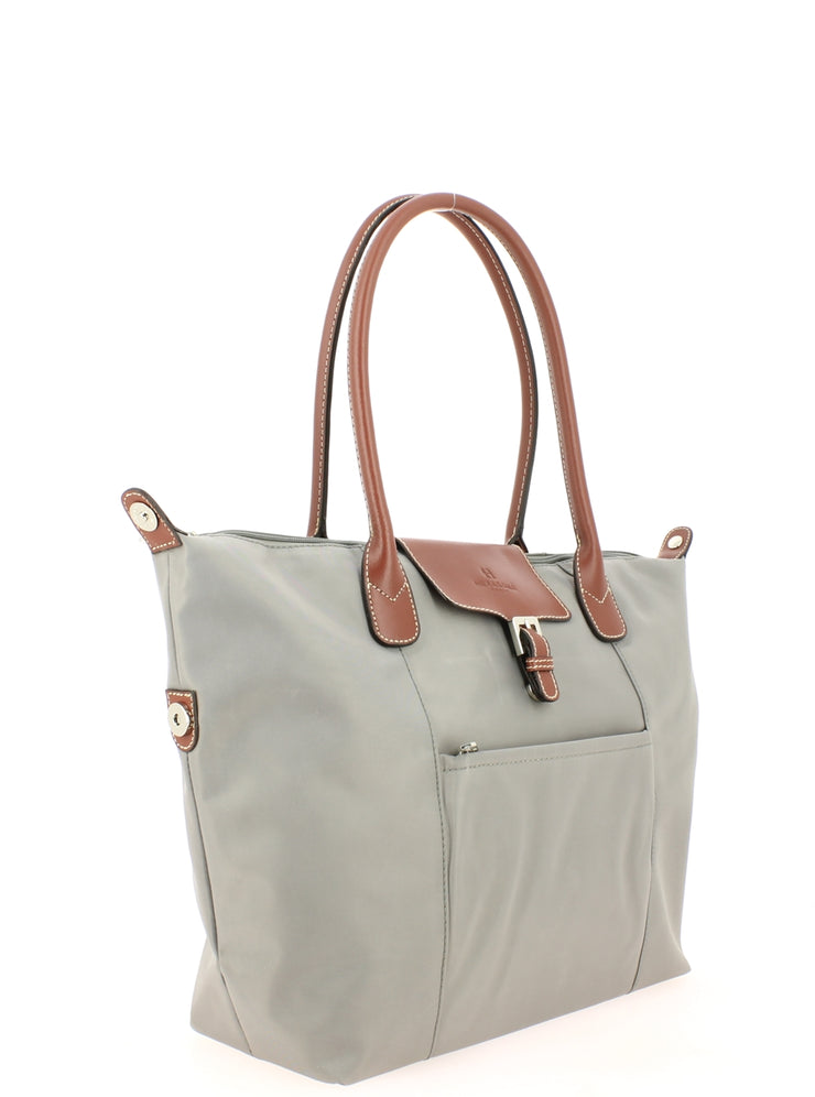 sac shopping Hexagona 172477-gris clair