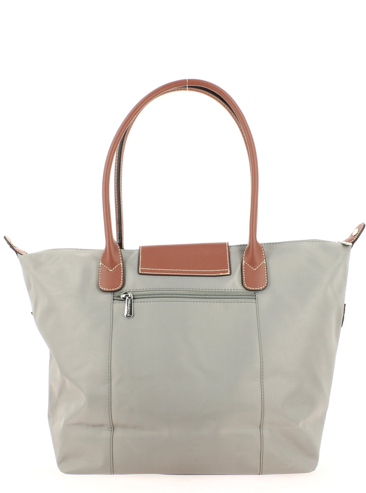 sac shopping Hexagona 172477-gris clair dos