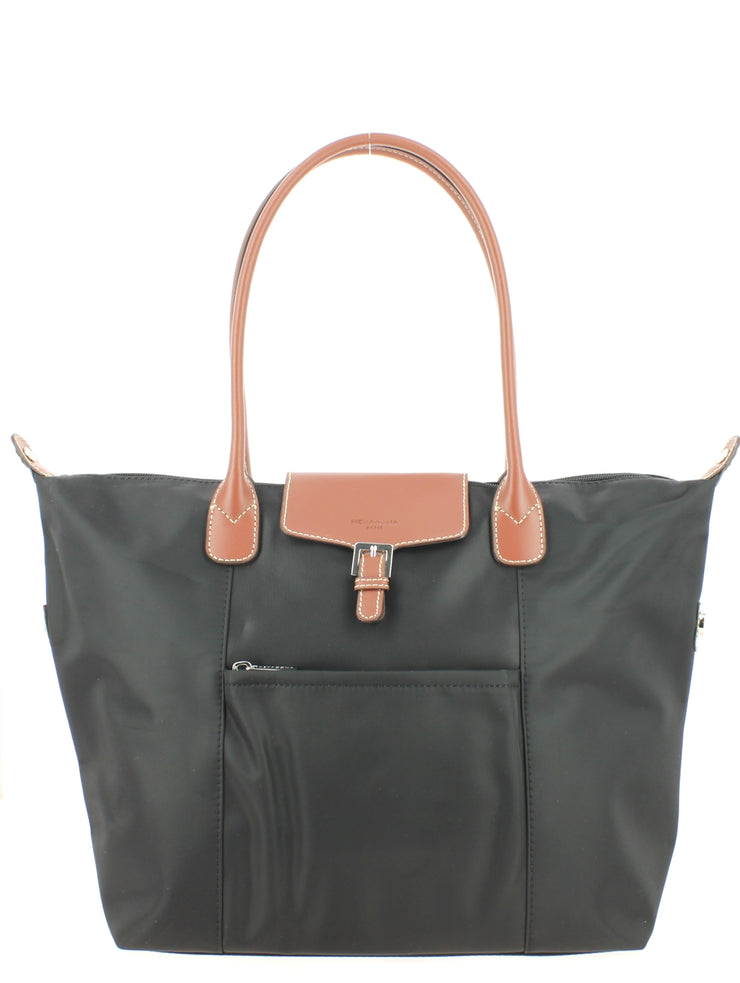 Sac shopping Hexagona Gilance 172477-NoirMarron face