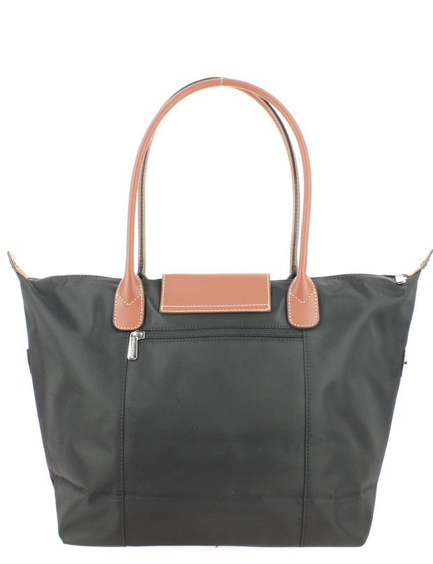 Sac shopping Hexagona Gilance 172477-NoirMarron dos