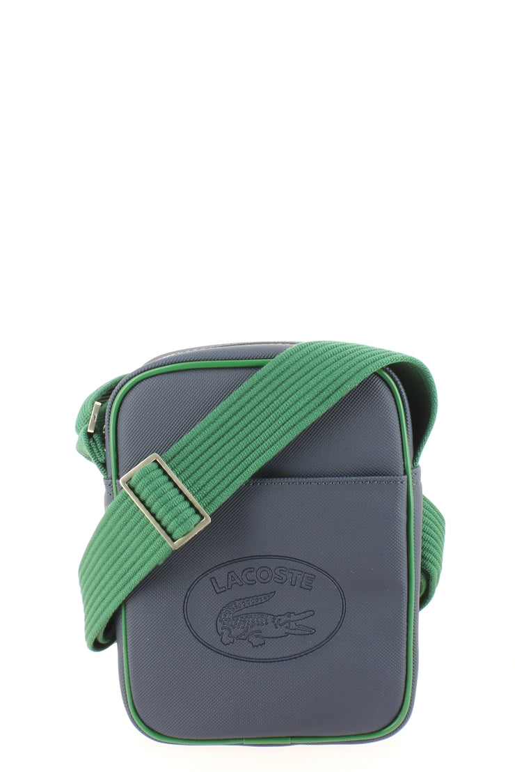 Sacoche Lacoste New Vertical Camera NH2874MX C36 Peacoat Green face