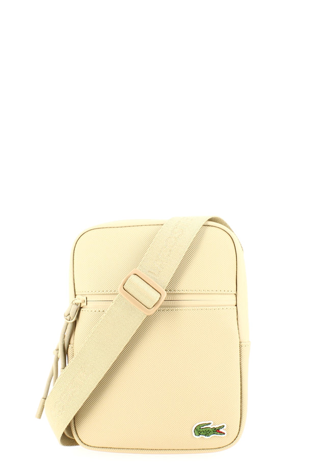 Sacoche LACOSTE S Flat Crossover Bag Beige face