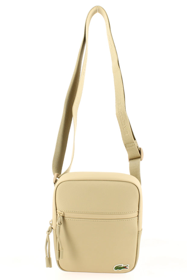 Sacoche LACOSTE S Flat Crossover Bag Beige