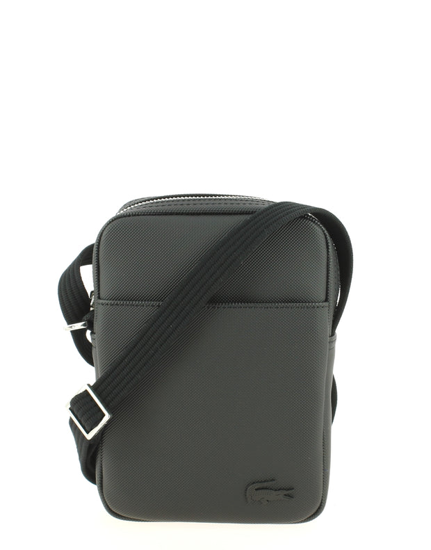 Sac bandoulière Lacoste vertical camera bag noir face