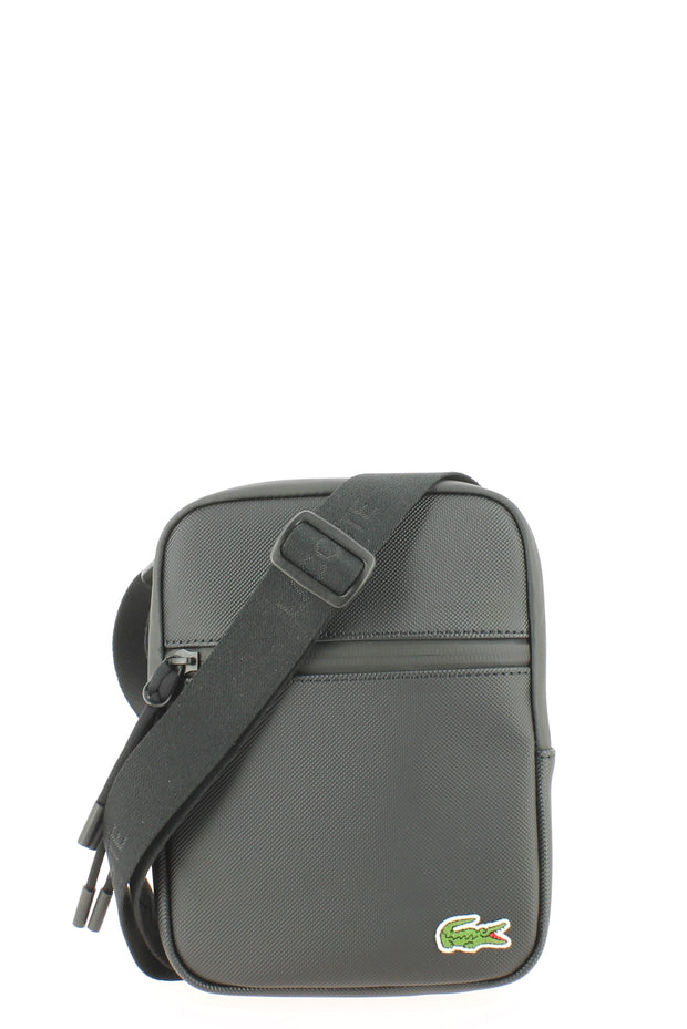Sacoche LACOSTE S Flat Crossover Bag Black face