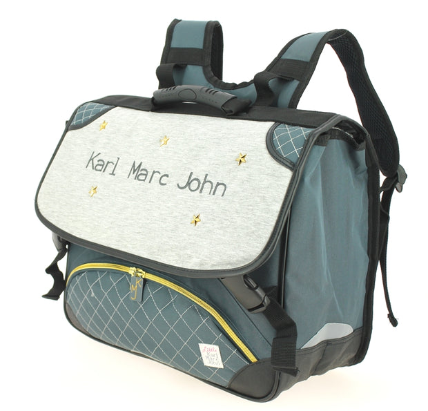 Cartable 41 cm Little Karl Marc John 632936 Gris côté
