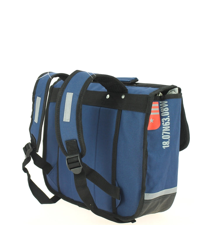 Cartable 35 cm yacht club 669398 bleu dos