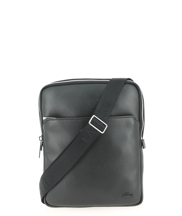 Sacoche LACOSTE Large Flat Crossover Bag Black face
