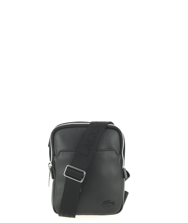 Sacoche LACOSTE Medium Flat Crossover Bag Black face