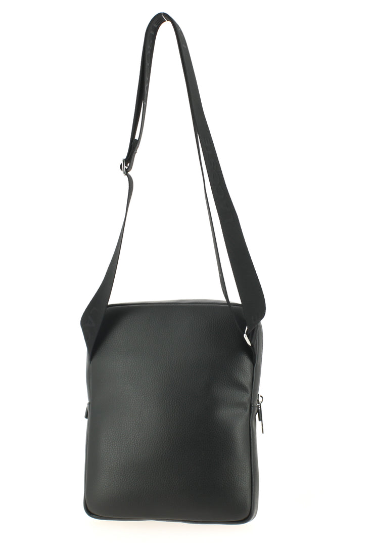 Sacoche LACOSTE Large Flat Crossover Bag Black dos