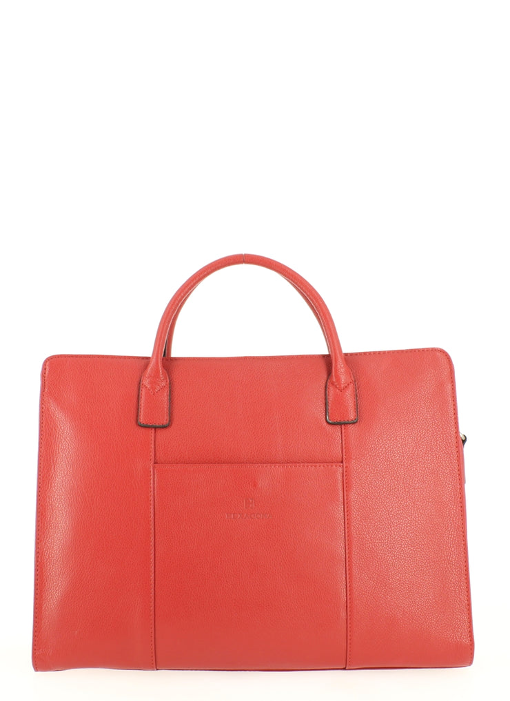 Sac cabas porte document Hexagona 462698 Rouge face