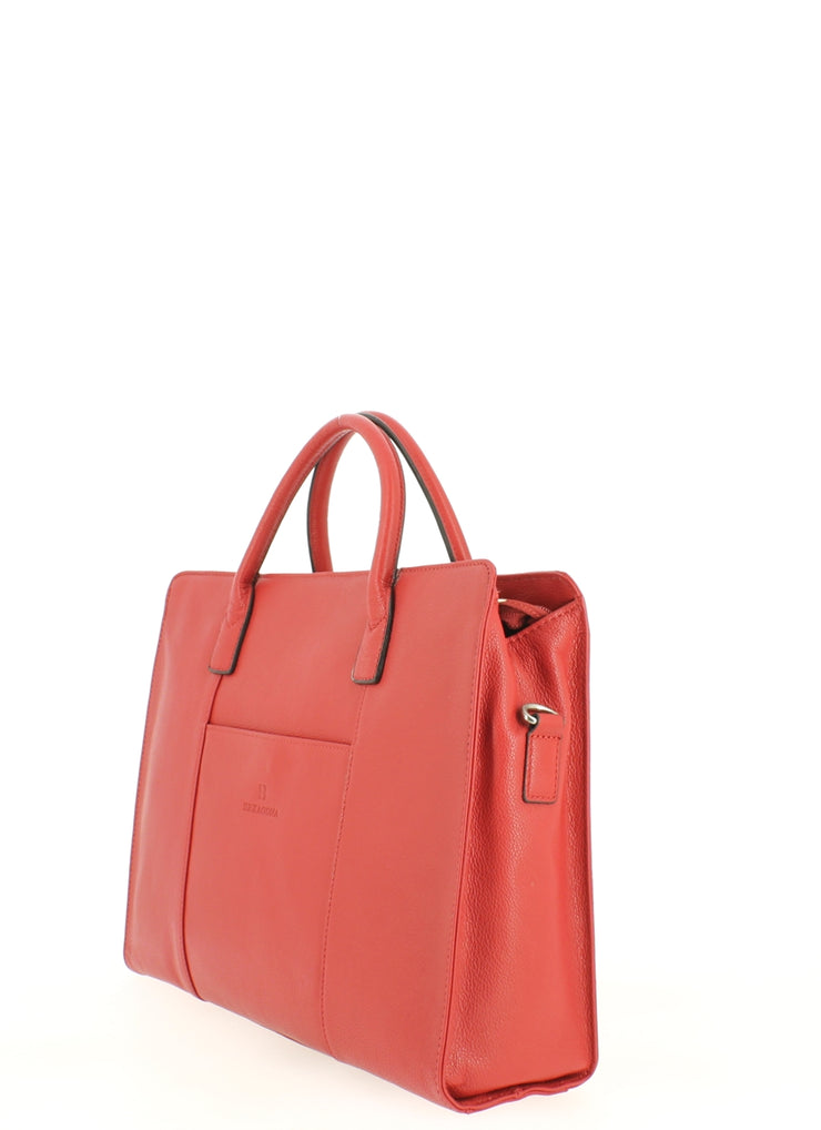 Sac cabas porte document Hexagona 462698 Rouge coté