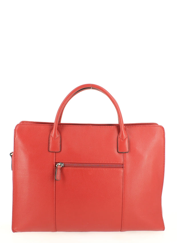 Sac cabas porte document Hexagona 462698 Rouge DOS