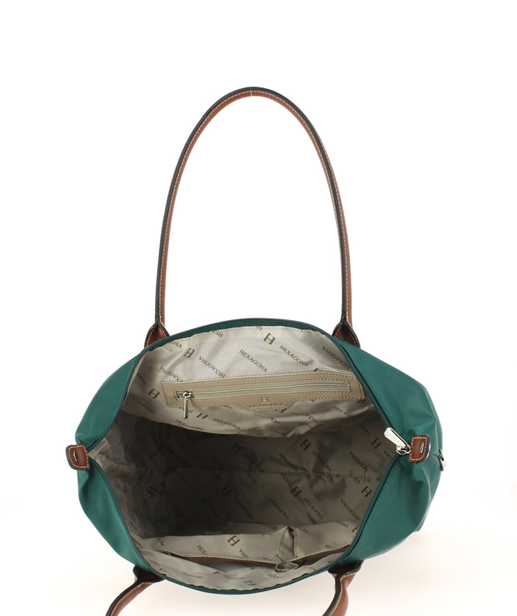 Sac shopping Hexagona Emeraude ouvert
