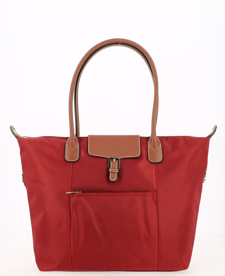 Sac shopping Hexagona Rouge face