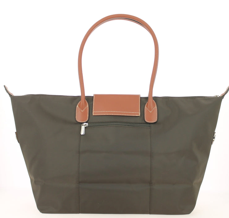 Sac shopping Hexagona-171819-marron-fonce DOS