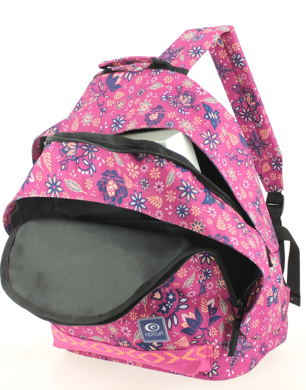 Sac à dos 2 compartiments Ripcurl Mandala Very Berry ouvert