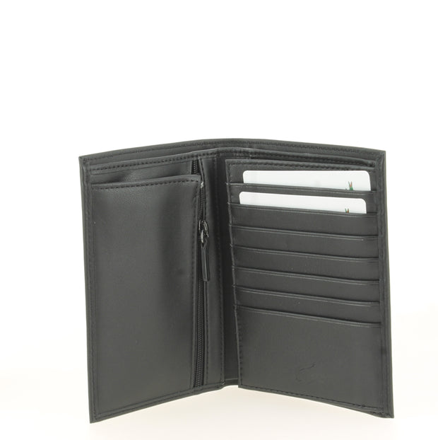 Portefeuille Lacoste L Vertical Billford Black ouvert1