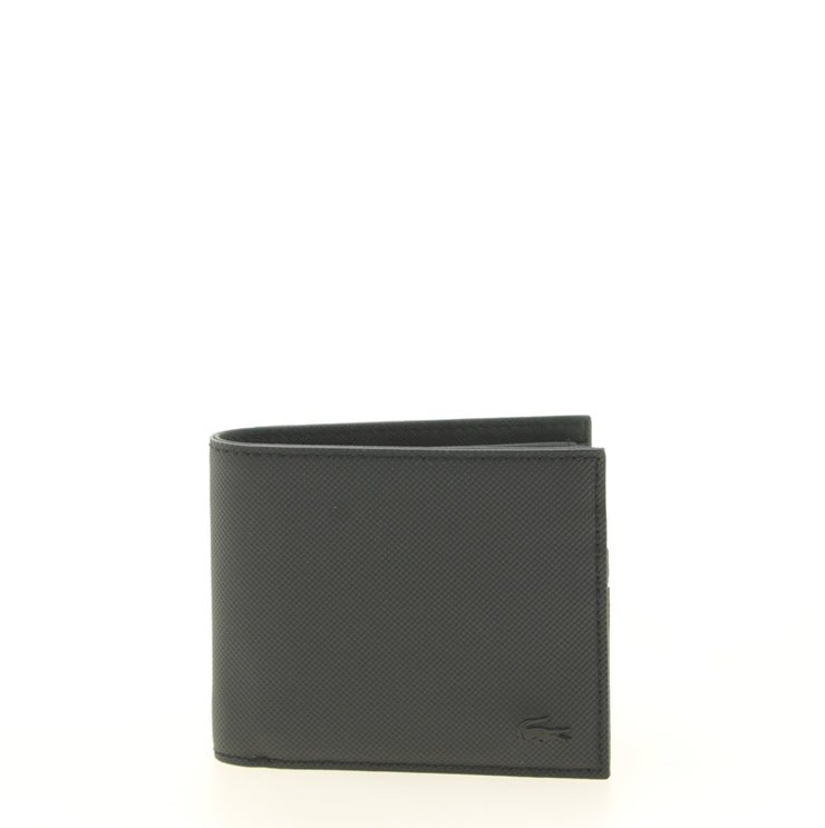 Portefeuille Lacoste S Billfold Coin Black face